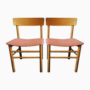 Vintage J39 Elm Chairs by Børge Mogensen for Farstrup Møbler, 1950s, Set of 2