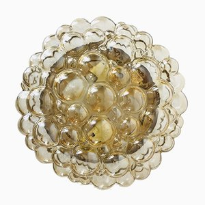 Lampada da soffitto grande in vetro a bolle di Helena Tynell per Limburg, anni '60