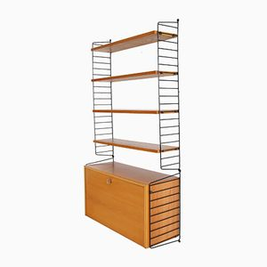 Mid-Century Ash Wall Shelving System by Kajsa & Nils 'Nisse' Strinning for String, 1950s