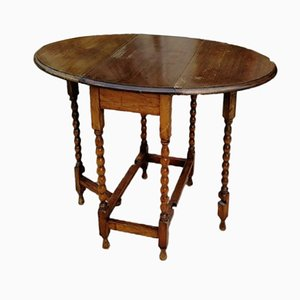 Small English Oak Table, 1900s