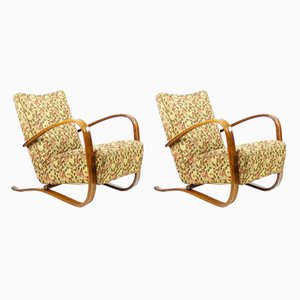 H-269 Armchairs by J. Halabala for UP Závody, 1930s, Set of 2