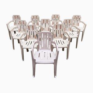Mambo Beistellstühle von Pierre Paulin für Henry Massonnet, 1990er, 10er Set