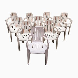 Mambo Side Chairs by Pierre Paulin for Henry Massonnet, 1990s, Set of 10