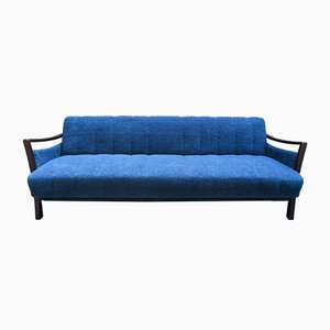 Vintage Blue Scandinavian 3-Seater Daybed, 1960s