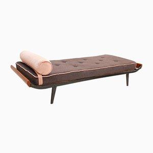 Sofá cama Cleopatra de palisandro y lana de Dick Cordemeijer para Auping, años 50