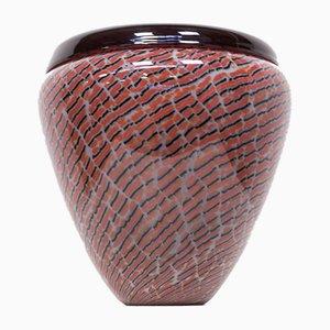 Jarrón de cristal de Murano de Seguso, años 90