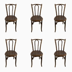 Vintage Bistro Chairs by Michael Thonet, 1930s, Set of 6