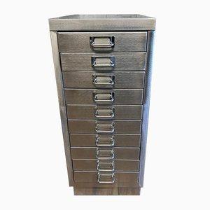 Industrieller Vintage Aktenschrank aus Metall mit 10 Schubladen