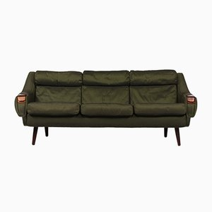 Danish Green Three-Seater Sofa by H. W Klein for Bramin, 1950s
