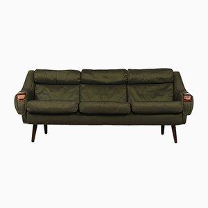 Grünes dänisches 3-Sitzer Sofa von H. W Klein für Bramin, 1950er