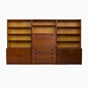 Bookshelf System with Bureau by Børge Mogensen for Søborg Møbelfabrik, 1960s