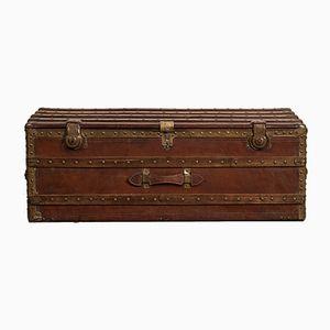 Antiker Reisekoffer aus Leder