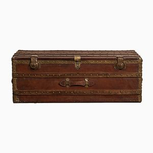 Antique Leather Travel Chest