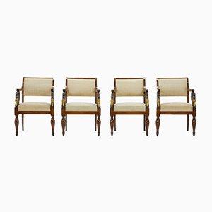 Italienische Stühle, 19. Jh., 4er Set