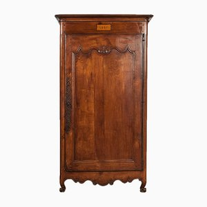 Antique French Mahogany One Door Armoire, 1851