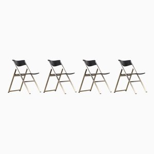 'P08' Folding Chair by Justus Kolberg for Tecno, 1990s, Set of 4