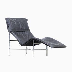 Skye Liegestuhl mit Lederbezug von Tord Björklund für Ikea, 1980er