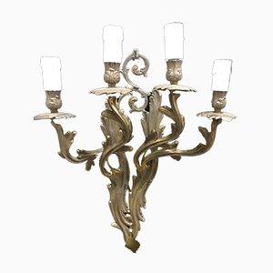 Aplique de pared italiano vintage de bronce, años 40