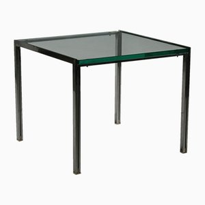 Vintage Glass & Steel Coffee Table by Ross Littell for ICF, 1960s