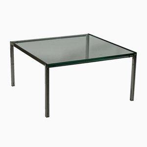 Tavolino da caffè in vetro e acciaio di Ross Littell per ICF de Padova, anni '60
