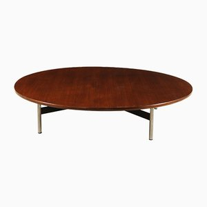 Vintage Italian Teak and Metal Coffee Table, 1960s