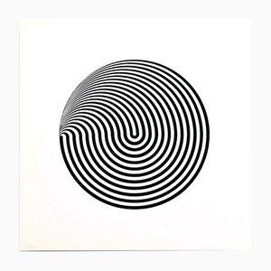 Sérigraphie Dinamica Circolare par Marina Apollonio pour Panderma Editions, 1966