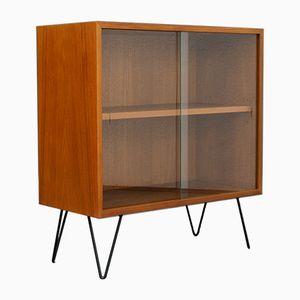 Mobiletto piccolo in vetro e teak, anni '60