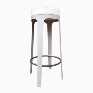 Metal & Leather Stool by Leonardo Rossano for Lapalma, 2000s
