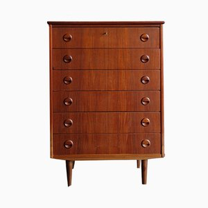 Danish Teak Chest of Drawers, 1950s