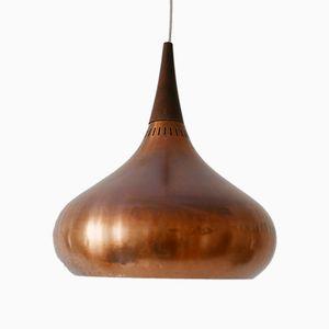 Lampada in rame di Jo Hammerborg per Fog & Mørup, anni '60