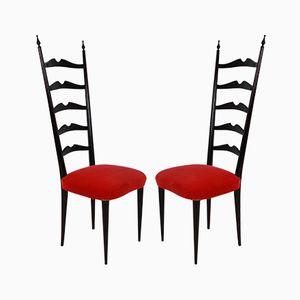 Sedie di Paolo Buffa, anni '40, set di 2