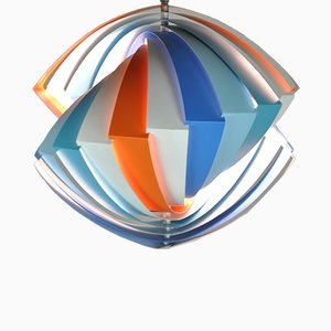 Lampada da soffitto Konkylie di Louis Weisdorf per Lyfa, 1963