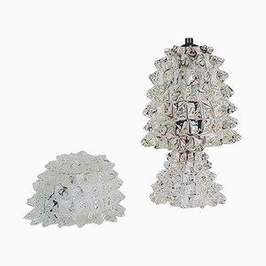 Lampada da tavolo e scatolina con coperchio di Ercole Barovier per Barovier & Toso