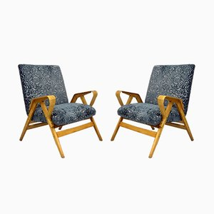 Vintage Bentwood Armchairs from Tatra Nabytok, 1950s, Set of 2
