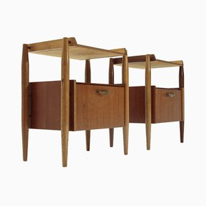 Tables de Chevet Mid-Century, Italie, 1960s, Set de 2