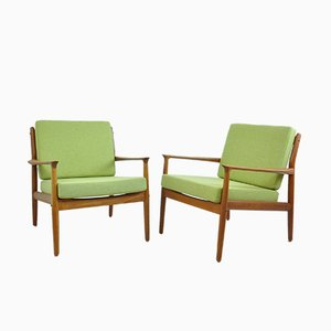 Easy Chairs by Grete Jalk for Glostrup, 1960s, Set of 2
