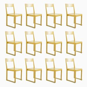 Orchestra Chairs by Sven Markelius for Bodafors, 1930s, Set of 12