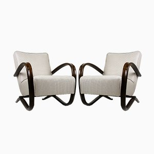 H-269 Armchairs by Jindrich Halabala for UP Závody, 1930s, Set of 2