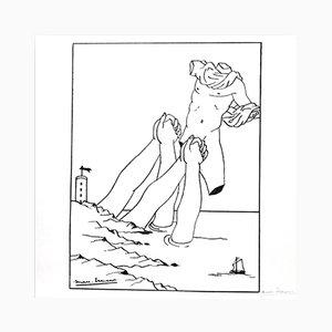 Lithographie par Marc Eemans pour Panderma, 1966