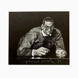 Lithografie von Johannes Grützke für Panderma, 1970er