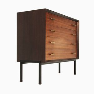 Italian Chest of Drawers with Brass Handles, 1960s