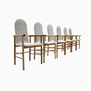 Italienische Mid-Century Esszimmerstühle, 1970er, 6er Set