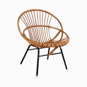 Rattan Chair by Rohé Noordwolde, 1960s