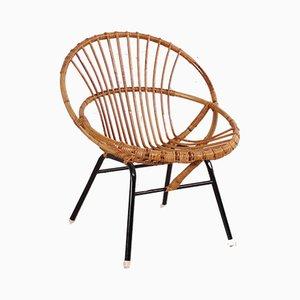 Stuhl aus Rattan von Rohé Noordwolde, 1960er