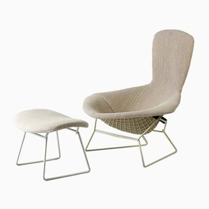 High Back Easy Chair with Ottoman by Harry Bertoia for Knoll, 1952