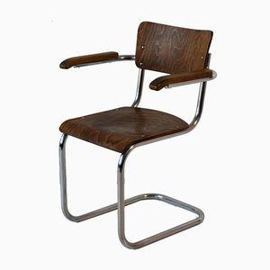 Freischwingender Armlehnstuhl von Mart Stam & Marcel Breuer für Thonet, 1950er