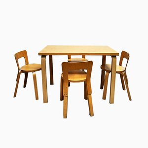 Esstisch & 4 Stühle von Alvar Aalto für Artek, 1960er