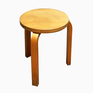 Vintage Model No E60 Stool by Alvar Aalto for Artek, 1960s