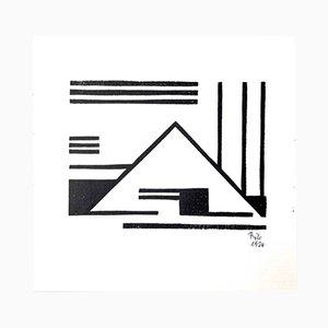 Impresión de grabado sobre madera de Thilo Maatsch para Panderma, 1924