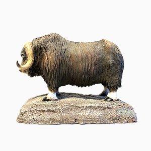 Escultura de buey almizclero vintage de Royal Scandinavian